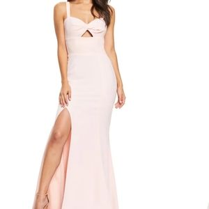 NWT Dress The Population Brooke front twist gown